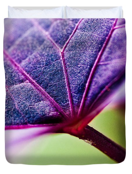 Purple Veins Duvet Cover by Christopher Holmes