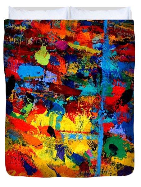Quantum Leap Duvet Cover by John  Nolan