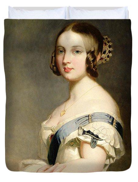 Queen Victoria Duvet Cover by Franz Xavier Winterhalter