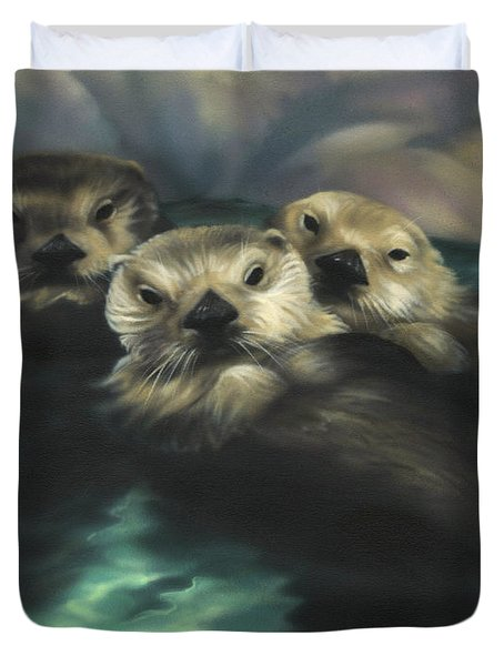 Quiet Cove Duvet Cover by Lucy West