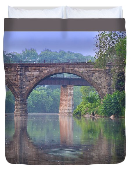 Quiet River Duvet Cover by Bill Cannon