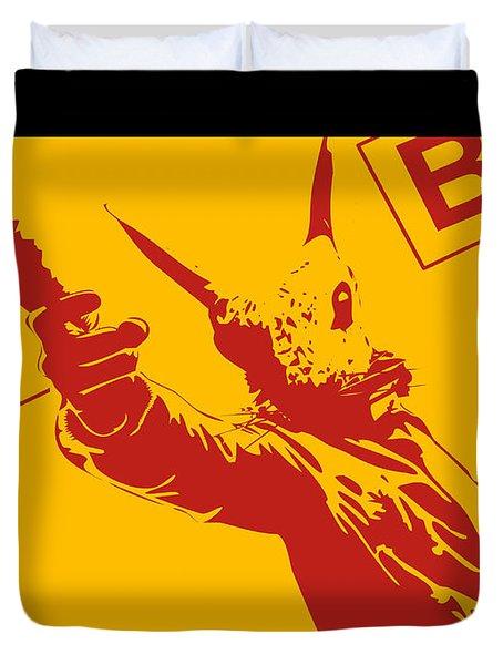 Rabbit Heist Duvet Cover by Pixel  Chimp