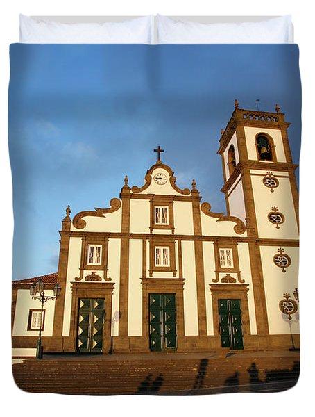 Rabo De Peixe Church Duvet Cover by Gaspar Avila