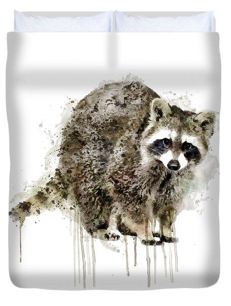 Raccoon Duvet Cover by Marian Voicu