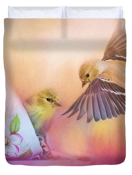 Raiding The Teacup - Songbird Art Duvet Cover by Jai Johnson