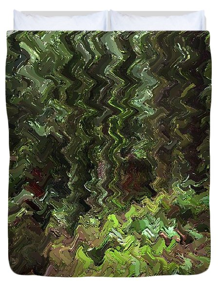 Rain Forest Abstract Duvet Cover by Sharon  Talson