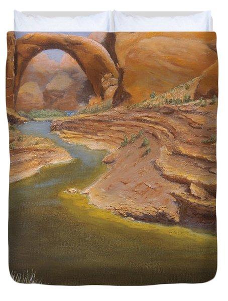 Rainbow Bridge Duvet Cover by Jerry McElroy