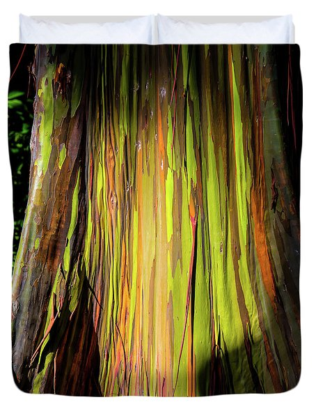 Rainbow Tree Duvet Cover by Jon Burch Photography