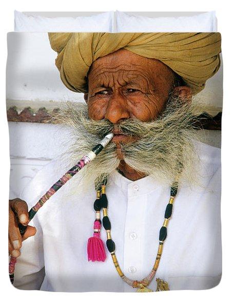 Rajasthani Elder Duvet Cover by Michele Burgess