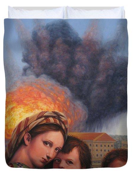 Raphael Moderne Duvet Cover by James W Johnson
