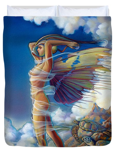 Rapture And The Ecstasea Duvet Cover by Patrick Anthony Pierson