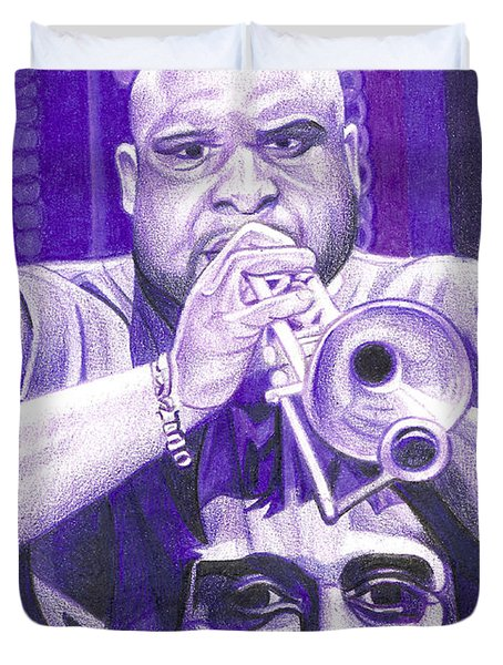 Rashawn Ross Duvet Cover by Joshua Morton