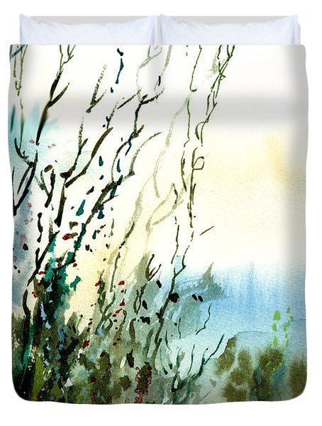 Reaching The Sky Duvet Cover by Anil Nene