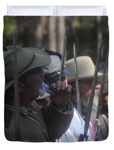 Rebel Bayonets Duvet Cover by David Lee Thompson