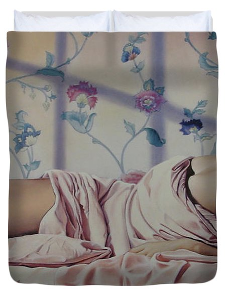 Reclining Nude Duvet Cover by Patrick Anthony Pierson