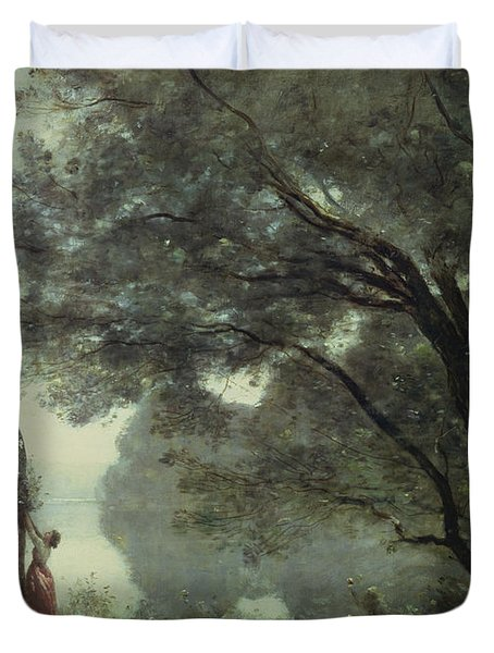 Recollections Of Mortefontaine Duvet Cover by Jean Baptiste Corot
