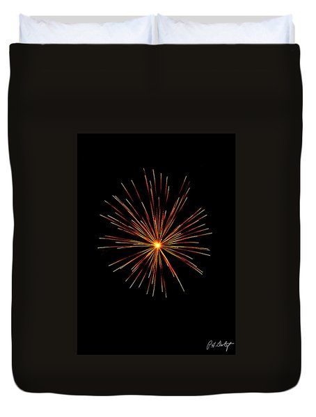 Red Burst Duvet Cover by Phill Doherty