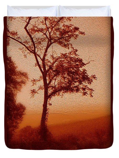 Red Dawn Duvet Cover by Linda Sannuti