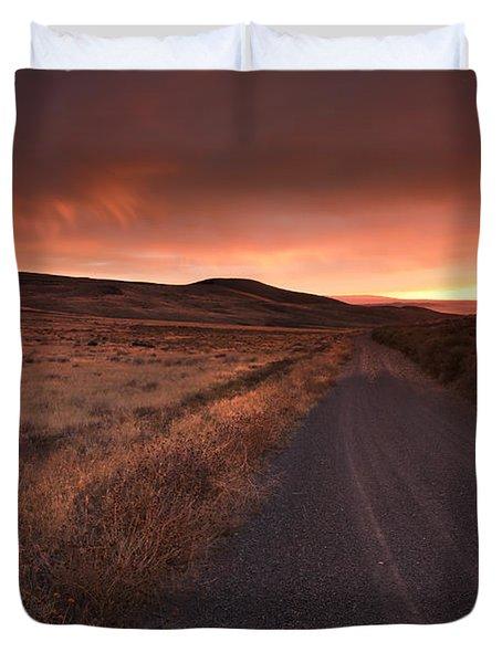 Red Dawn Duvet Cover by Mike  Dawson