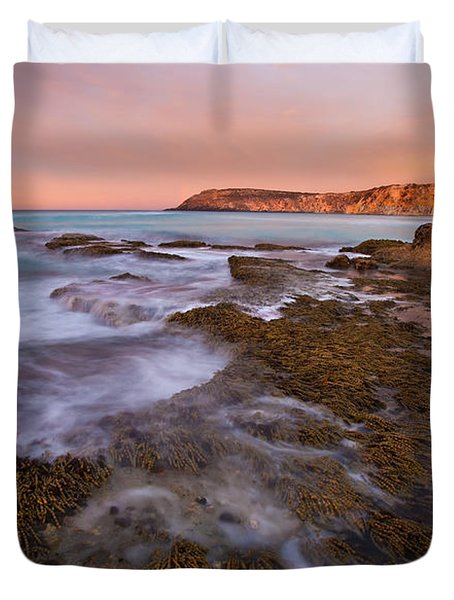 Red Dawning Duvet Cover by Mike  Dawson