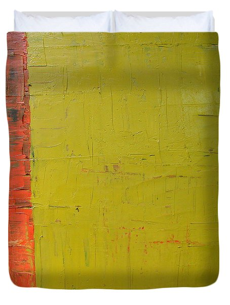 Red Green Yellow Duvet Cover by Michelle Calkins