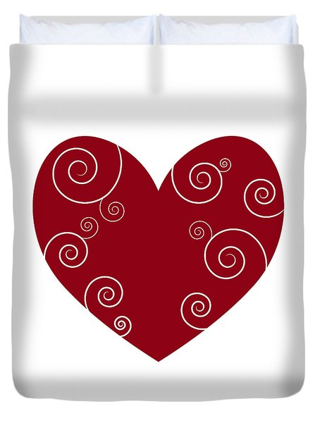Red Heart Duvet Cover by Frank Tschakert