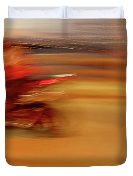 Red Hot Duvet Cover by Glennis Siverson