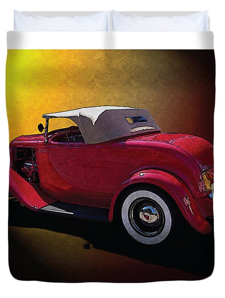 Red Hot Rod Duvet Cover by Kenneth De Tore