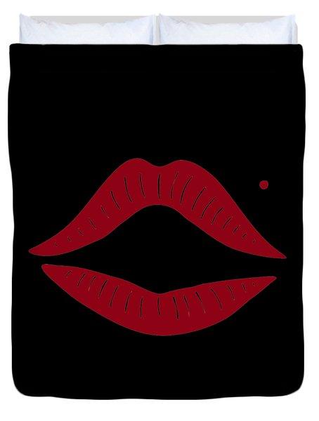 Red Lips Duvet Cover by Frank Tschakert