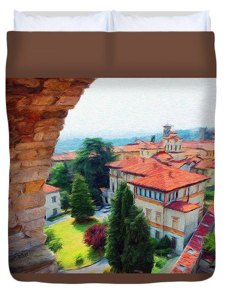 Red Roofs Duvet Cover by Jeff Kolker