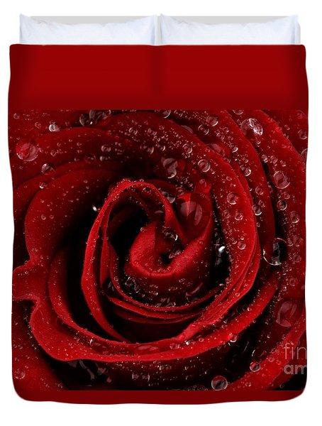 Red Rose Duvet Cover by Mark Johnson
