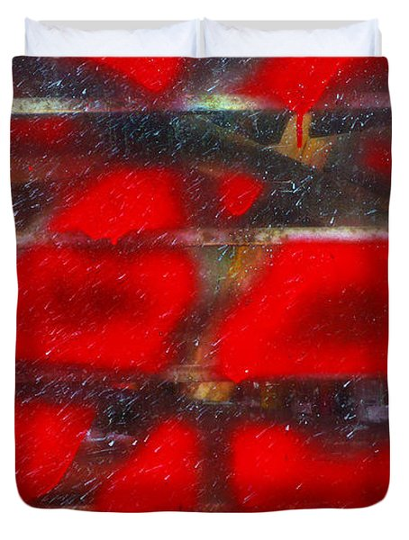 Red Scare Duvet Cover by Skip Hunt