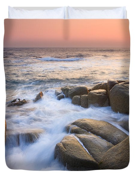 Red Sky At Morning Duvet Cover by Mike  Dawson