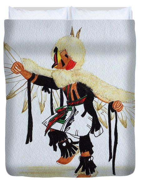 Red Tail Hawk Duvet Cover by Mary Rogers