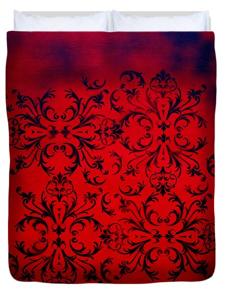 Red Velvet By Madart Duvet Cover by Megan Duncanson