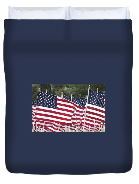 Red White And Blue Duvet Cover by Jerry McElroy