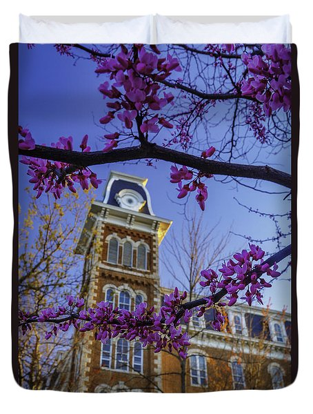 Redbud At Old Main Duvet Cover by Damon Shaw