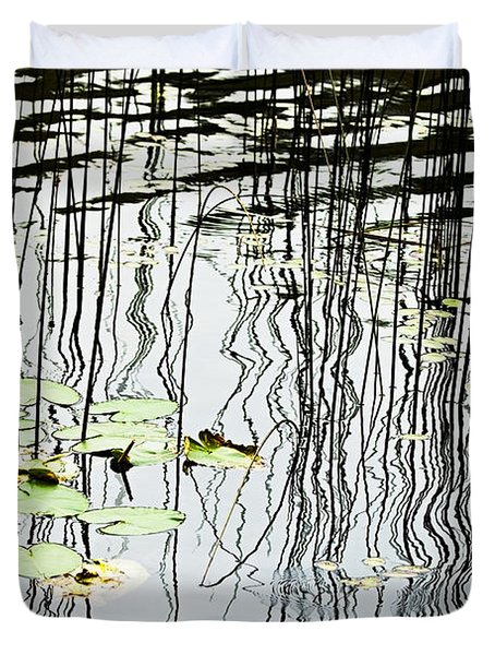 Reeds And Reflections Duvet Cover by Dave Fleetham - Printscapes