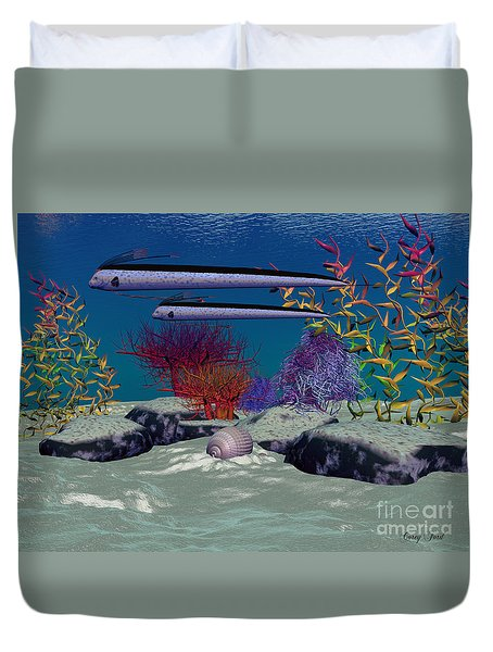 Reef Duvet Cover by Corey Ford