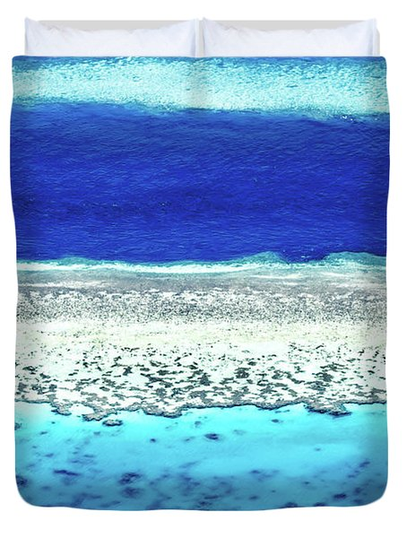 Reefs Edge Duvet Cover by Az Jackson