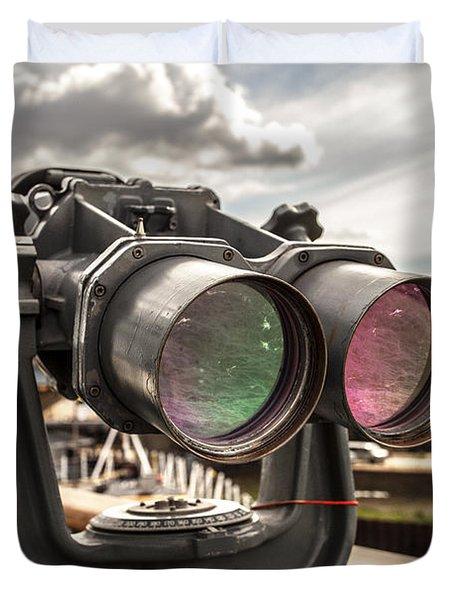 Reflected Power Duvet Cover by CJ Schmit