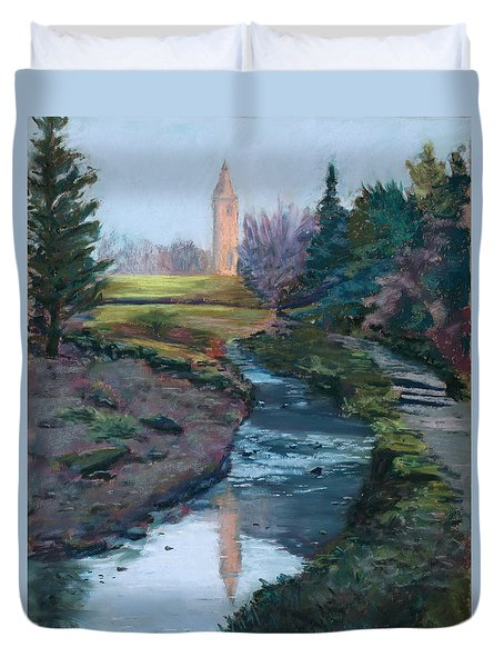 Reflections In History Duvet Cover by Mary Benke
