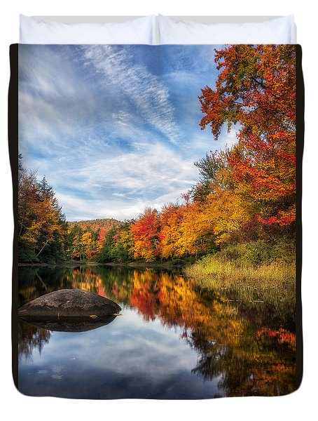 Reflections Of Fall Duvet Cover by Mark Papke
