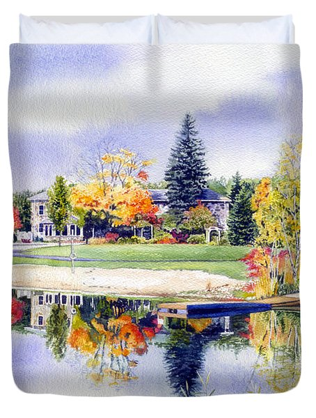 Reflections Of Home Duvet Cover by Hanne Lore Koehler