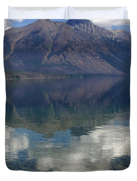 Reflections On The Lake Duvet Cover by Marty Koch