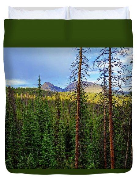 Reids Peak Duvet Cover by Chad Dutson