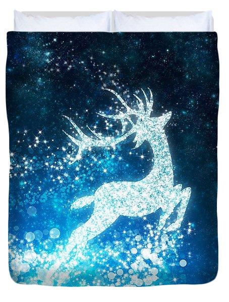 Reindeer Stars Duvet Cover by Setsiri Silapasuwanchai