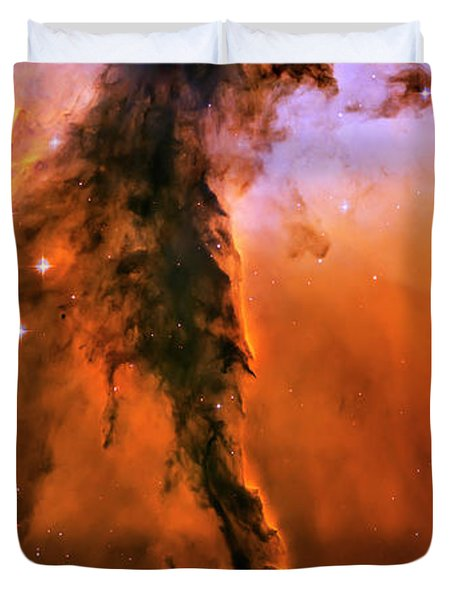 Release - Eagle Nebula 1 Duvet Cover by The  Vault - Jennifer Rondinelli Reilly