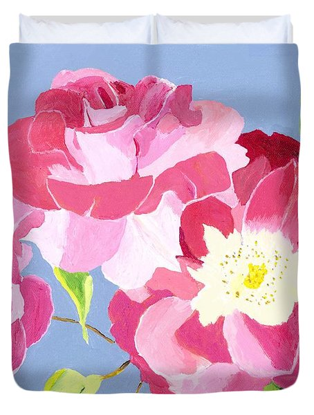 Duvet Cover featuring the painting Remembrance by Rodney Campbell