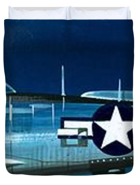 Republic P-47n Thunderbolt Duvet Cover by Wilf Hardy